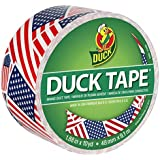 Duck HC283046 1.88 yd x 10 yd US Flag Tape, Single Roll, Multicolor