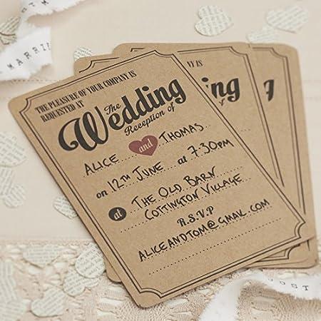 Ginger Ray Vintage Affair Kraft Wedding Table Numbers Brown