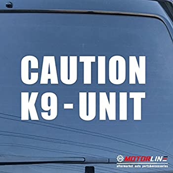 2X DECALS STICKERS FOR CAR TRUCK CHOOSE YOUR SIZE AND COLOR CAUTION K-9