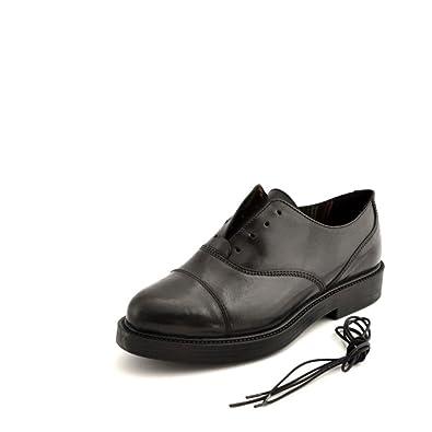 Modelo Piel SOLDINI Goma Cuerdas DE con de suministrado en de Negro Posibilidad Resbalón Zapatos xUqI5St