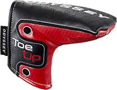 This headcover will fit over any of the Odyssey Toe Up heel-shafted blade putters.