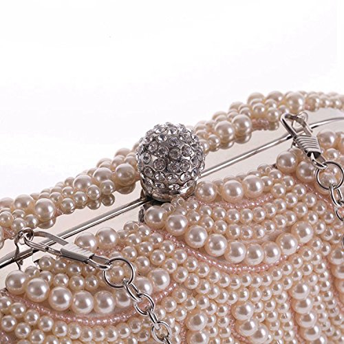 evening Clutch handbags Silver party bag cool bag Delicate Wallets Pearl qSwa7a
