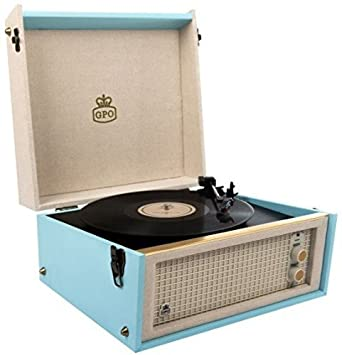 GPO Bermuda Classic Retro Style Turntable With MP3 USB Built In Speakers And