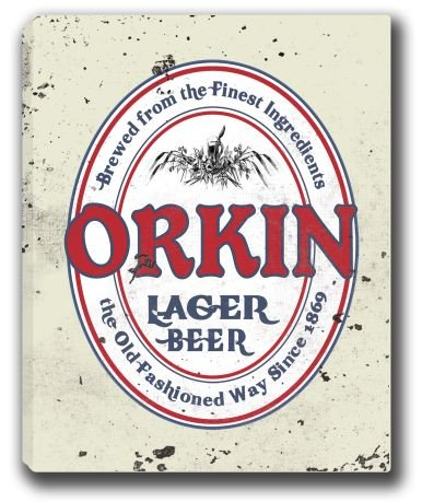 orkin-lager-beer-stretched-canvas-sign-16-x-20
