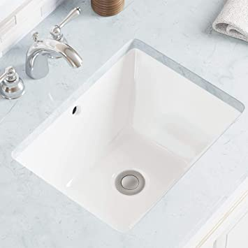 Mr Direct U1611 W White Undermount Porcelain Bathroom Sink Amazon Com