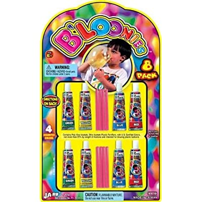 B'loonies Plastic Balloons Variety Pack, 8 Tubes of Assorted Colors: Toys & Games