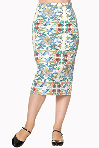 Banned Mandala Vintage Retro Pencil Skirt