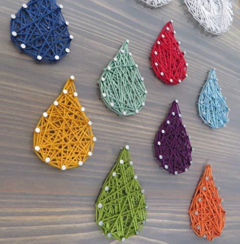 DIY String Art Kit | Raindrops String Art Kit | DIY Adult Crafts Kit Includes All Supplies | Nursery Wall Art String Art Wall Hanging