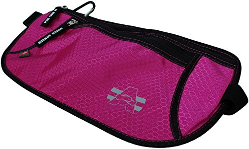 Angel Cola Hexagon Money Belt For Travel RFID Protector Gear (Hot Pink)