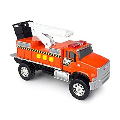 Tonka Toughest Minis Orange Power Dept Cherry Picker Truck: Toys & Games