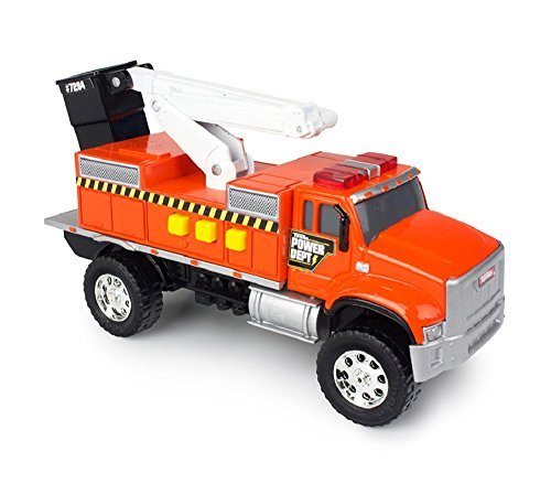 (Tonka Toughest Minis Orange Power Dept Cherry Picker Truck )