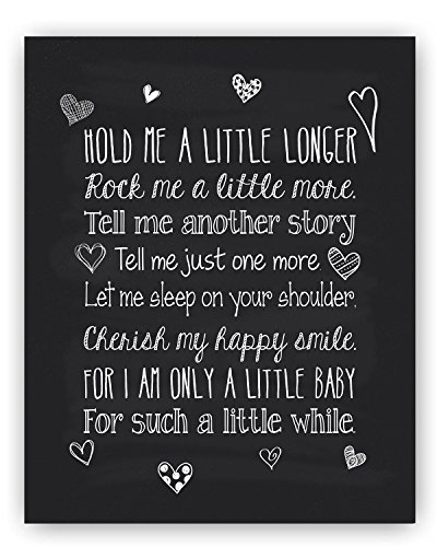 Quote Nursery Chalkboard Typography Print product image