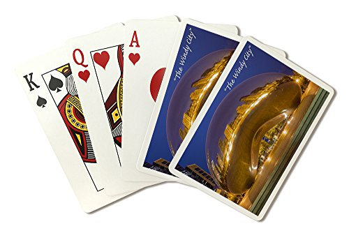 - Chicago, Illinois - The Windy City - The Bean (Playing Card Deck - 52 Card Poker Size with Jokers)