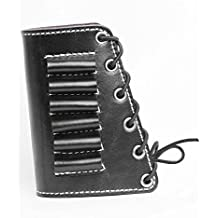vsdfvsdfv D Leather Rifle Butt Cuff Hunting Shooting Rifle Buttstock Cheek Rest Pad with Shell Holder