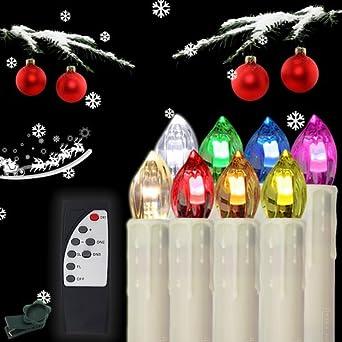 Weihnachtsbeleuchtung Innen Kerzen.Hengda 60x Led Kerzen Kabellose Rgb Lichterkette Innen Deko Weihnachtsbeleuchtung Set Mit Fernbedienung Party 60