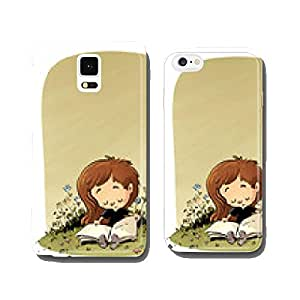 girl reading in the field cell phone cover case iPhone5