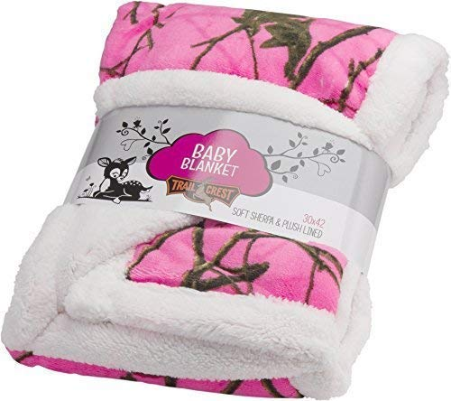 Baby Blazing Pink Forest Soft Poly fleece Sherpa Blanket 30