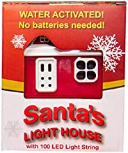 Hydra Cell Santa's Light House, Water Activated 100 LED Fairy Lights String with 8 Modes and Pre-Set Timer