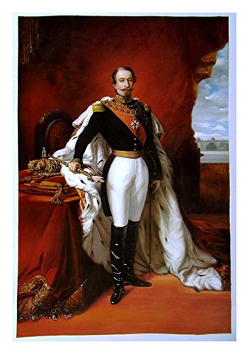 Emperor Napoleon III - Franz Xaver Winterhalter high quality hand-painted oil painting reproduction, official portrait of the emperor,office wall decor
