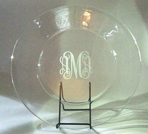 Monogram Large Platter (Engraved Monogrammed Large Glass)