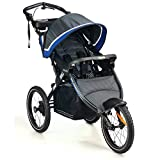 Kolcraft Sprint Pro Jogging Stroller -16' Air-Filled Fixed Front Wheel, Lightweight,Hand Brake, 3 Seat Positions (Sonic Blue)