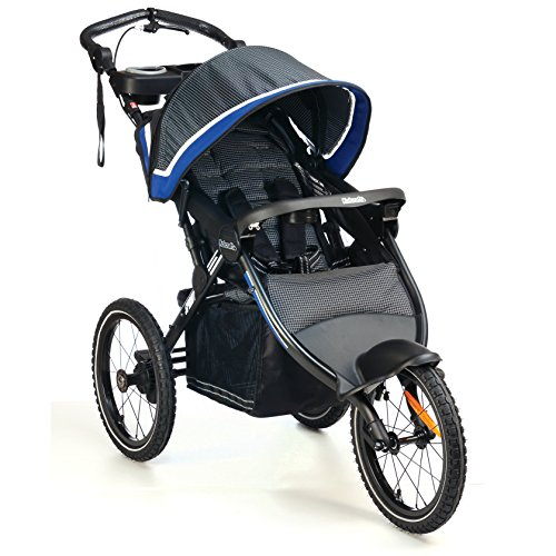 Kolcraft Sprint Pro Jogging Stroller -16'' Air-Filled Fixed Front Wheel, Lightweight,Hand Brake, 3 Seat Positions (Sonic Blue) by Kolcraft