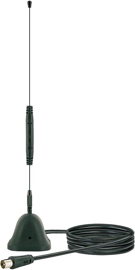 SCHWAIGER -20303- Antena DVBT-2 en el interior con amplificador | integ. Filtro de corte LTE | para la recepción de DVB-T, DAB+ y FM | conexión con el ...