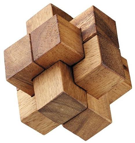 Amazon.com: Burr Puzzle by Monkey Pod Games: Toys & Games