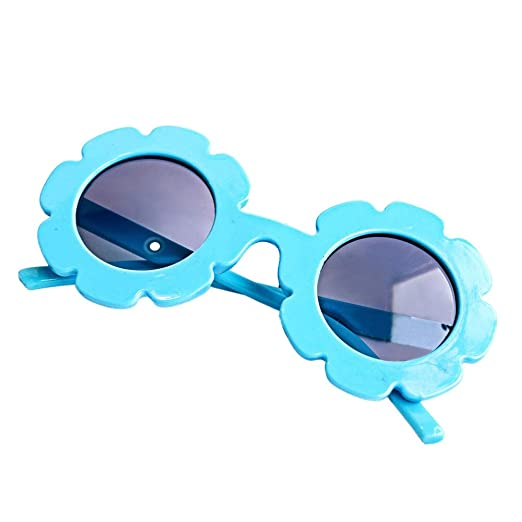 3165a9bbbc Image Unavailable. Image not available for. Color  Tracfy Stylish Round  Flower Sunglasses Anti-UV Party ...