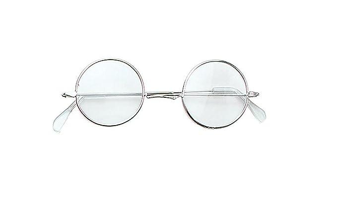 Clear John Lennon Specs Grandad Granny Glasses Beatles Fancy Dress ... ee7494f50e