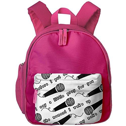 Microphone Kid Boy Lovely School Bag Bookbag Roomy Outdoors Shoulders Bag Backpacks 12.5