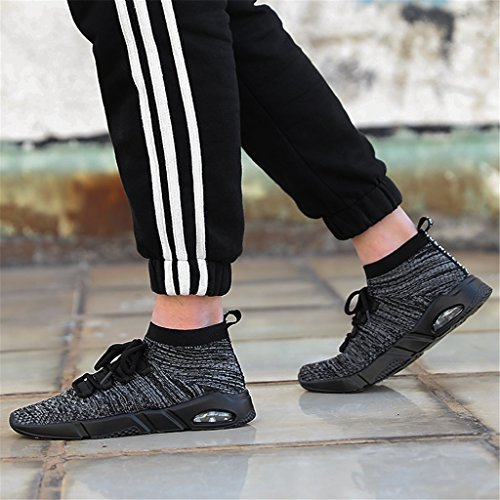 Gray Breathable Men Running Shoes Sport Knit for Shoes Shoes High Casual Top Gym PP7rZnx