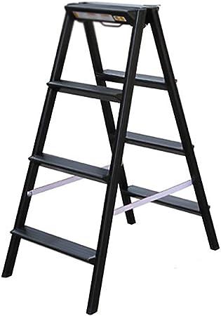 ZM&Taburete Escabel Escalera De Tijera De Aluminio Negro Escalera Plegable Multifunción para El Hogar Escalera De Pedales Ascendente (Size : 45x75x95cm): Amazon.es: Hogar