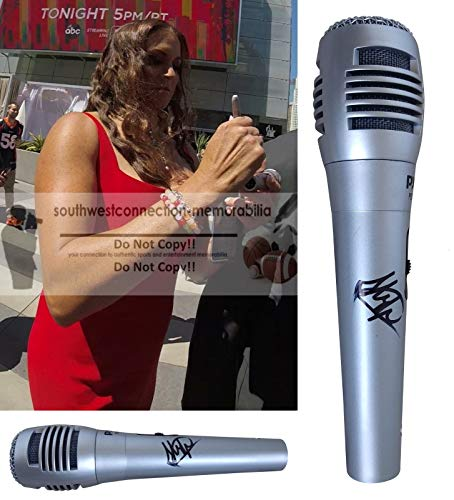Stephanie McMahon Helmsley WWE Autographed Hand Signed Microphone with Exact Proof Photo of Steph Signing the Mic and Coa, WWF, Professional Wresting, World Wrestling Entertainment from Southwestconnection-Memorabilia