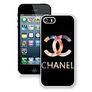 Popular And Unique iPhone 5S Case Designed With CHANEL Logo 38 White Phone Case For iPhone 5S Cover