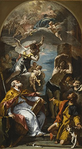 Sebastiano Ricci A Glory of The Virgin with The Archangel Gabriel and Saints Eusebius, Roch and Sebastian Los Angeles County Museum of Art 1724 1725~30