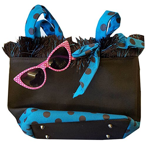White Sunglasses Dot amp; Glasses Blue Black Eye Bag Cat Pink Bag Blue Brown Polka Shoulder Hand 50's Pink Zw57BtWq