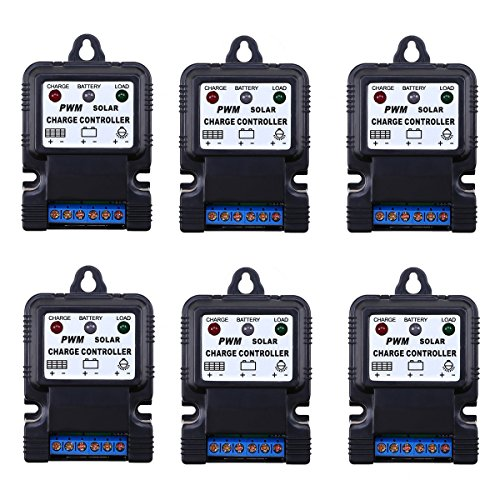 WHOSEE 6-Pack 10A PWM Solar Panel Regulator Battery Charg...
