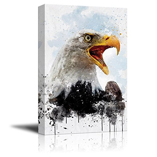 Print Eagle with Watercolor Style Paint Splash