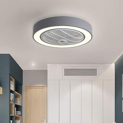 Ventilador de Techo con luz, Mando a Distancia LED, 3 Colores Regulables, sin aspas, Metal acrílico, Montaje Empotrado, Ventilador de bajo Perfil Macaron: Amazon.es: Hogar