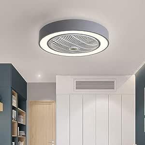 Ventilador de Techo con luz, Mando a Distancia LED, 3 Colores ...