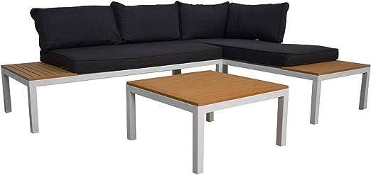 Jet-line Kassandra - Conjunto de Muebles de jardín en Color Blanco, Incluye Mesa.…: Amazon.es: Jardín