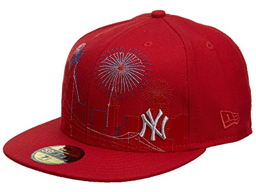 New Era New York Yankees Fitted Hat Mens Style: HAT438-RED Size: 7 5/8