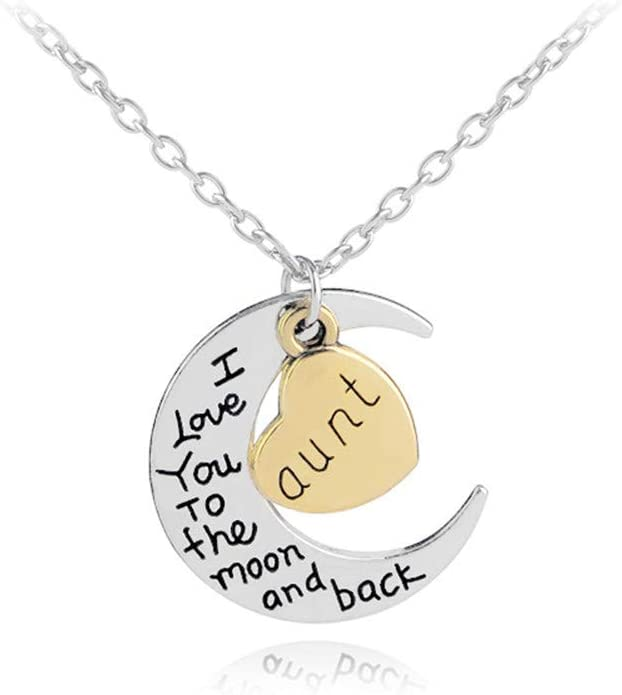 Aunt Gfts Aunt Heart Pendant Necklace Aunt Necklace Best Gift for Aunt Birthday Christmas Gifts