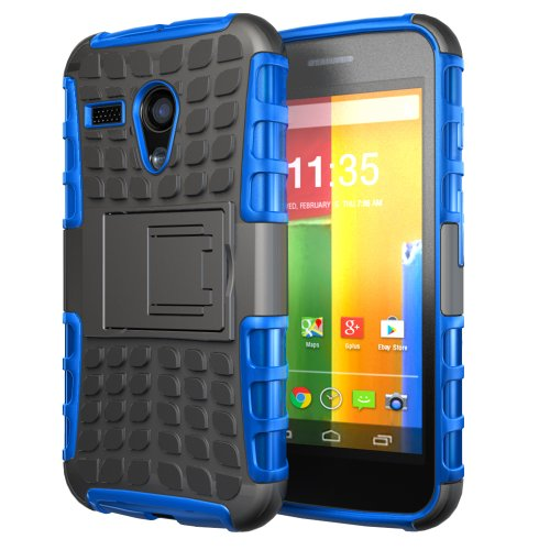 Hyperion Motorola Google Moto G Phone Protective Case/Cover (Compatible with All Moto G (DVX) Models)Hyperion Retail Packaging [2 Year Warranty] (EXPLORER, BLUE) from Hyperion EA