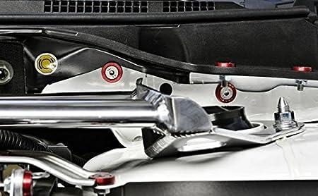 Pack de 4 Attaches rapides en alliage aluminium universel pour pare-chocs coffre Fender hayon couvercles Kit boulon M6 P1.0 rouge