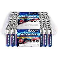 ACDelco 100-Count AAA Batteries, Maximum Power Super Alkaline Battery