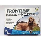 Frontline DFRMDPLUS6 6-Pack 23 to 44-Pound Plus dogs Flea and Tick Treatment, Medium, Blue
