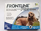 Frontline DFRMDPLUS 3-Pack 23 to 44-Pound Plus Dogs Flea and Tick Treatment, Medium, Blue