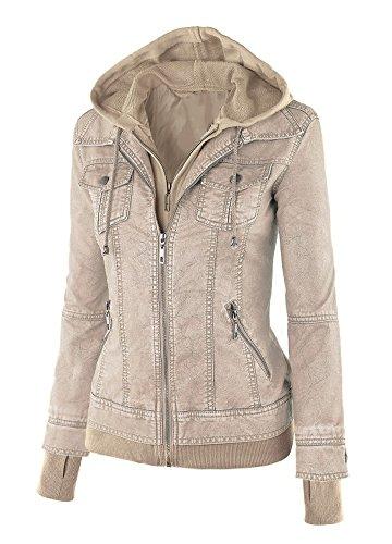 Cardigan Donna Cappuccio Minetom Albicocca Zipper Con Jacket Giacca Invernali Felpa Lunga Cappotto Manica Giacche Vintage 0qzr1dq